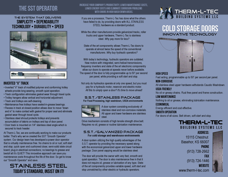 Brochure Outside & Custom and standard Cold storage doors cold storage building ...